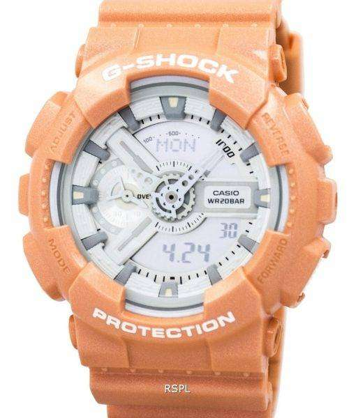 Casio G-Shock Orange Analog Digital GA-110SG-4A Mens Watch