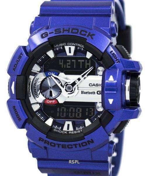 Casio G-Shock GMIX Bluetooth Smart World Time Analog-Digital GBA-400-2A Mens Watch