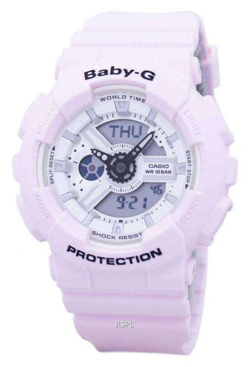 Casio Baby-G Shock Resistant World Time Analog Digital BA-110BE-4A Women's Watch