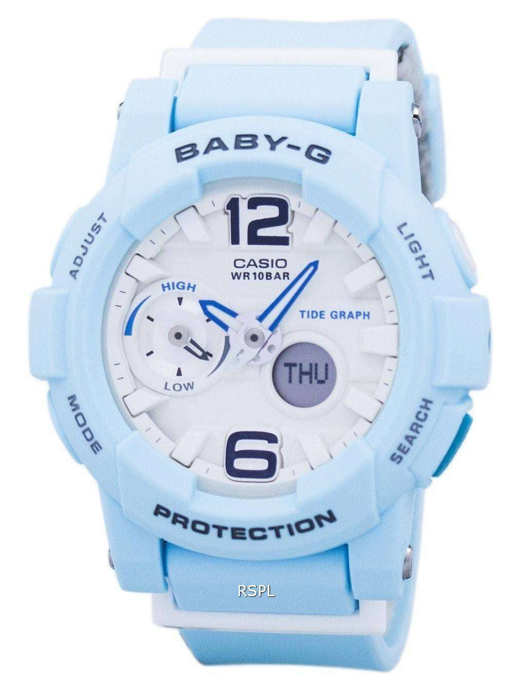 52d12449c56 Casio Baby-G Shock Resistant Tide Graph Analog Digital BGA-180BE-2B Women s  Watch