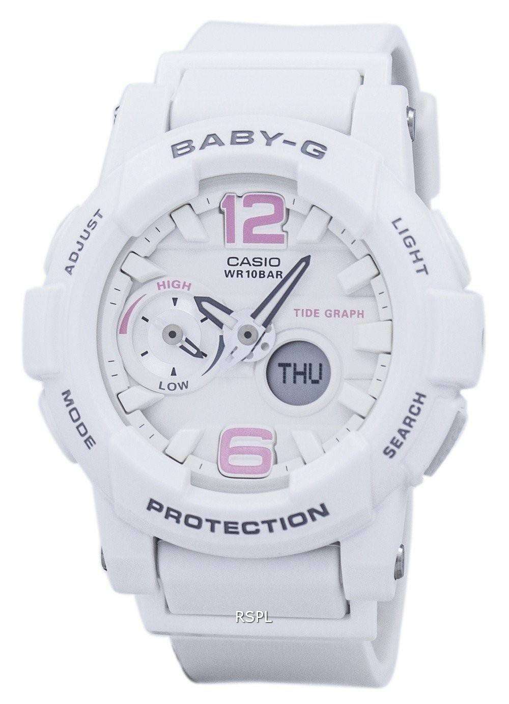 32175fbdc25 Casio Baby-G Shock Resistant Tide Graph Analog Digital BGA-180BE-7B Women s  Watch