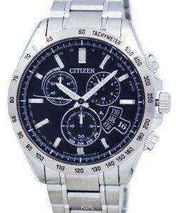 Citizen Direct Flight Eco-Drive Chronograph World Time Japan Made BY0130-51E Men's Watch