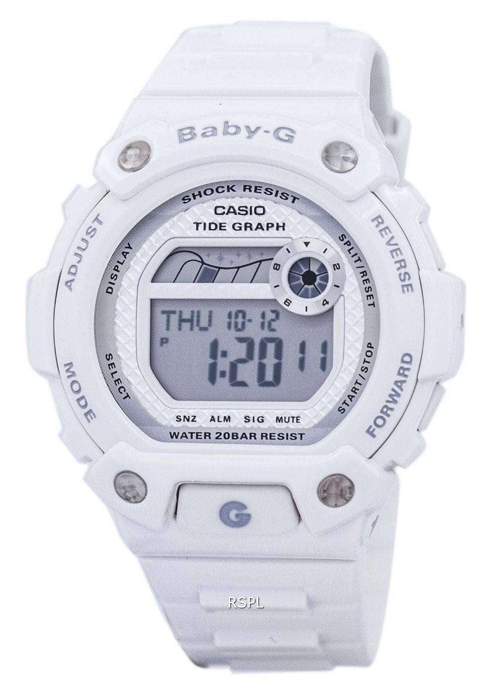 Casio Baby-G Tide Graph Shock Resistant Alarm BLX-100-7E Women s Watch e0c72006637b