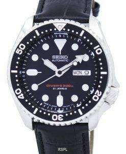 Seiko Automatic Diver's Ratio Black Leather SKX007J1-LS6 200M Men's Watch