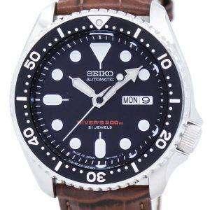 Seiko Automatic Diver's Ratio Brown Leather SKX007J1-LS7 200M Men's Watch