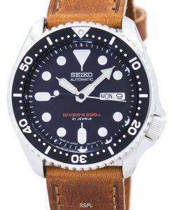 Seiko Automatic Diver's Ratio Brown Leather SKX007J1-LS9 200M Men's Watch