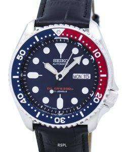 Seiko Automatic Diver's Ratio Black Leather SKX009J1-LS6 200M Men's Watch