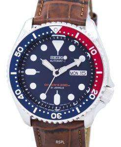 Seiko Automatic Diver's Ratio Brown Leather SKX009J1-LS7 200M Men's Watch