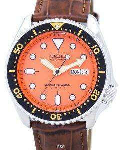 Seiko Automatic Diver's Ratio Brown Leather SKX011J1-LS7 200M Men's Watch