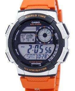 Casio Youth Series Illuminator World Time Alarm AE-1000W-4BV Men's Watch