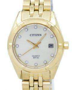 Citizen Analog Quartz Diamond Accent EU6052-53P Women's Watch