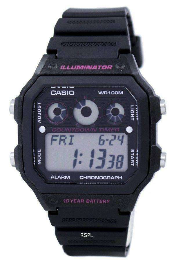 Casio Illuminator Chronograph Alarm Digital AE-1300WH-1A2V Men's Watch