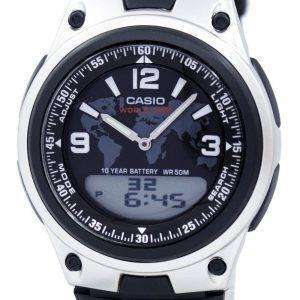 Casio Databank World Time Telememo Analog Digital AW-80-1A2V Men's Watch
