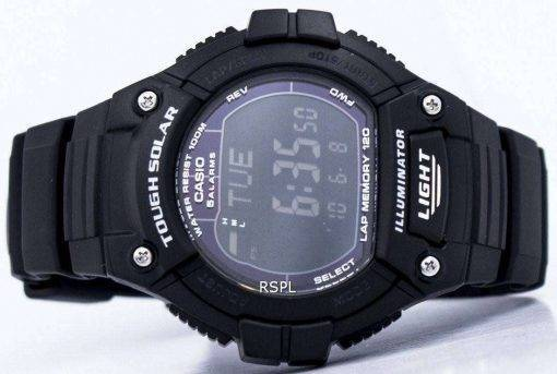 Casio Illuminator Tough Solar Lap Memory Alarm Digital W-S220-1BV Men's Watch