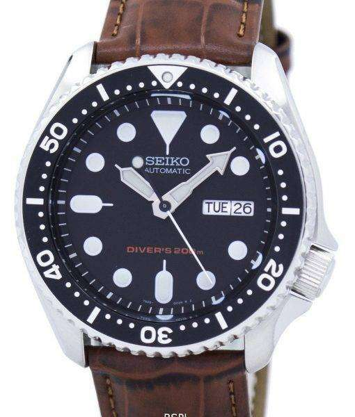Seiko Automatic Diver's 200M Ratio Brown Leather SKX007K1-LS7 Men's Watch