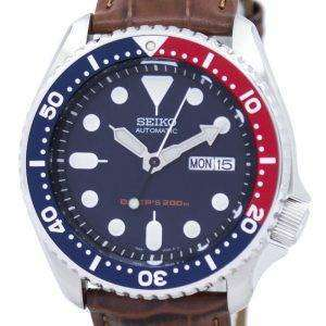 Seiko Automatic Diver's 200M Ratio Brown Leather SKX009K1-LS7 Men's Watch