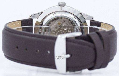 Seiko 5 Sports Military Automatic Japan Made Ratio Dark Brown Leather SNZG07J1-LS11 Men's Watch