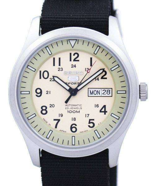 Seiko 5 Sports Military Automatic Japan Made NATO Strap SNZG07J1-NATO4 Men's Watch