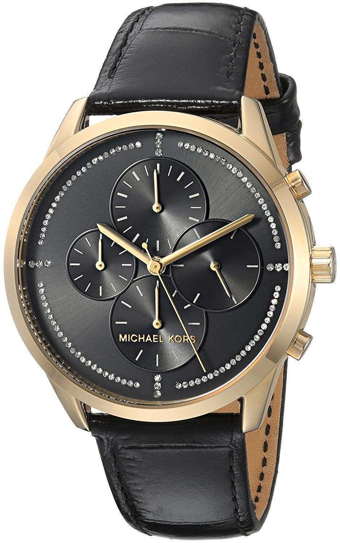 be6ff975f713cf Michael Kors Slater Chronograph Quartz Diamond Accent MK2686 Women's Watch