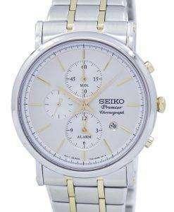 Seiko Premier Chronograph Quartz Alarm SNAF80 SNAF80P1 SNAF80P Men's Watch
