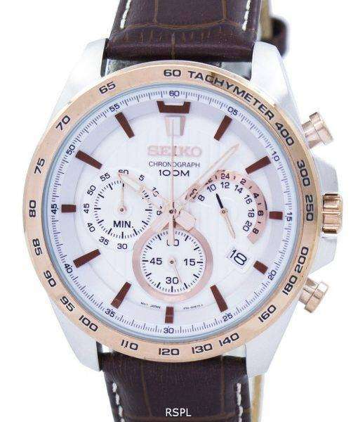 Seiko Chronograph Quartz Tachymeter SSB306 SSB306P1 SSB306P Men's Watch