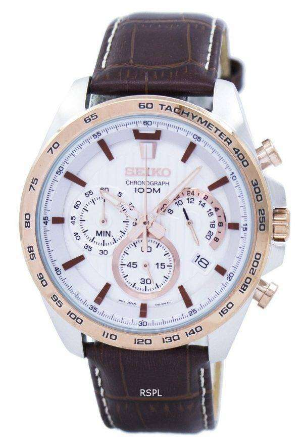 Seiko Chronograph Quartz Tachymeter SSB306 SSB306P1 SSB306P Men's Watch