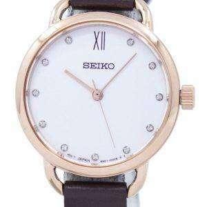 Seiko Analog Quartz Diamond Accent SUR698P2 Women's Watch