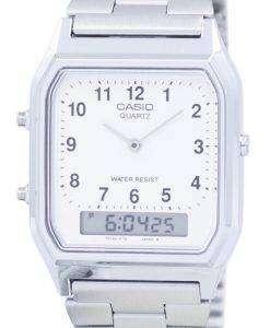 Casio Vintage Dual Time Analog Digital Quartz AQ-230A-7BMQ AQ230A-7BMQ Men's Watch