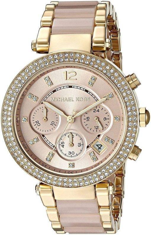 Michael Kors Parker Chronograph Quartz Diamond Accent MK6326 Women's Watch