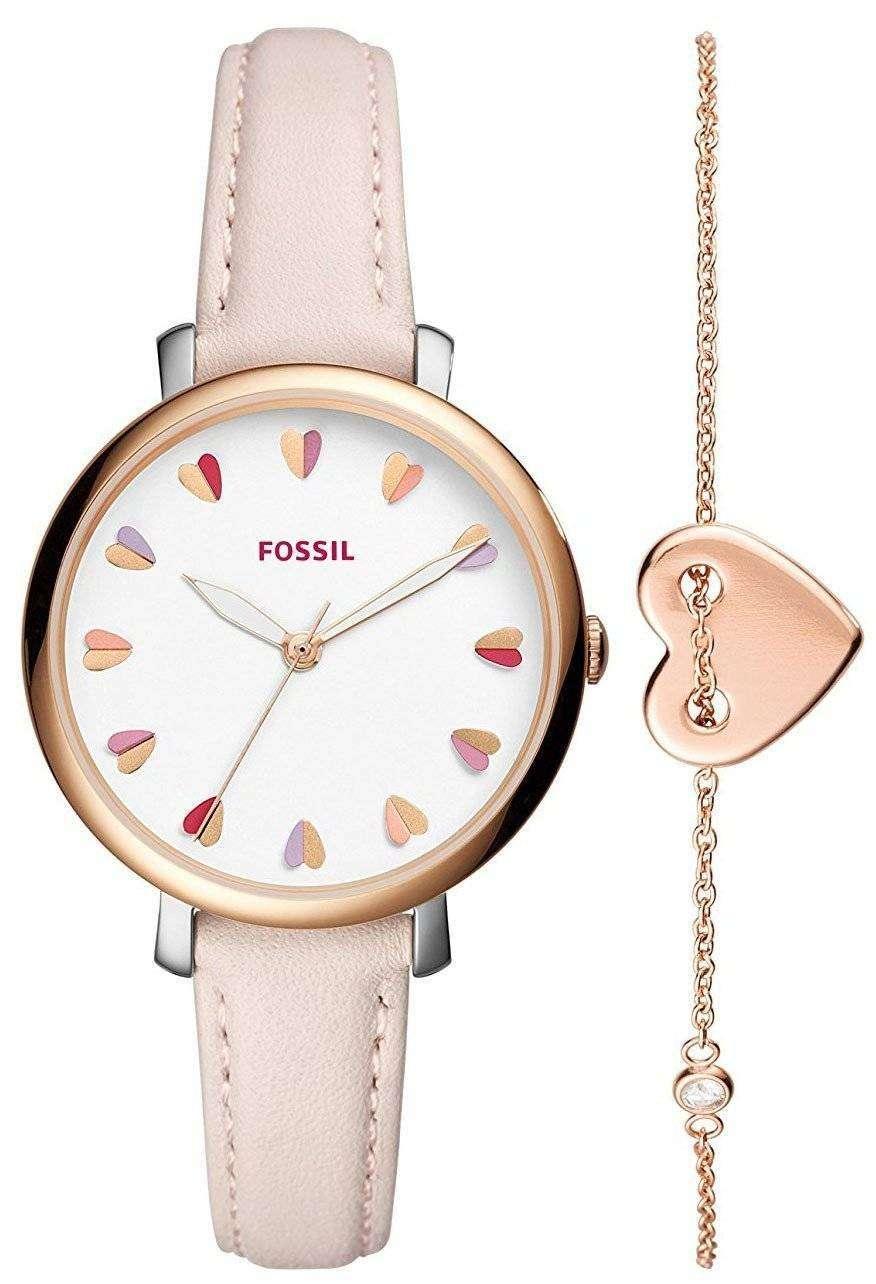 Fossil Jacqueline Quartz Jewellery Set Es4351set Womens Watch Canada Es3862 Original