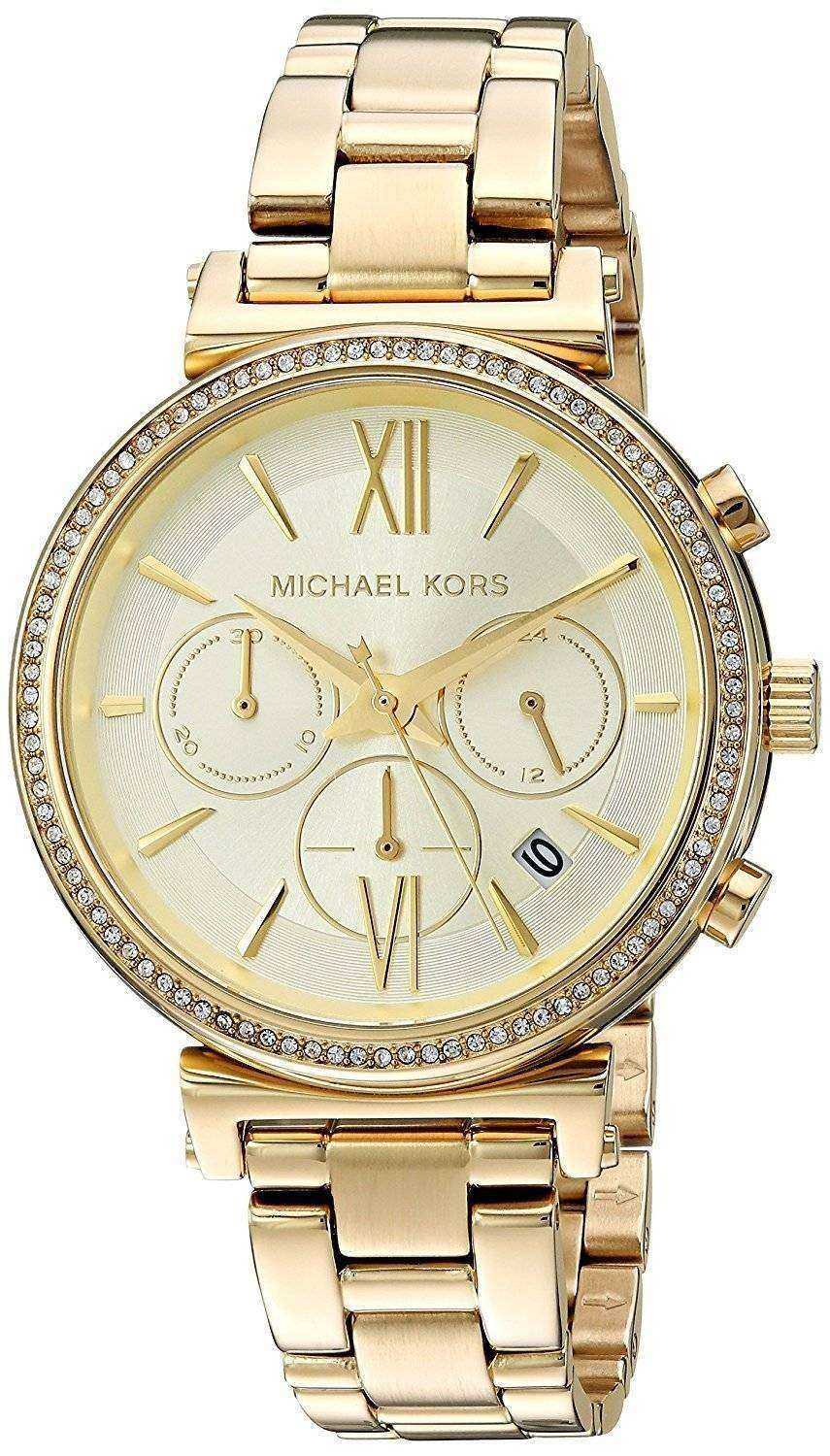 Michael Kors Chronograph Quartz Diamond Accent MK6559 Women's Watch