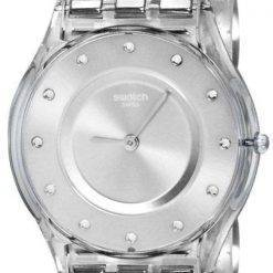 Swatch Skin Classic Silver Drawer Quartz SFK393G Women's Watch