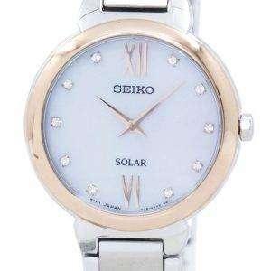 Seiko Classic Solar Diamond Accent SUP382 SUP382P1 SUP382P Women's Watch