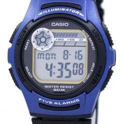 Casio Youth Digital 5 Alarms Illuminator W-213-2AVDF W-213-2AV Mens Watch