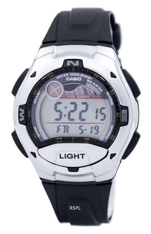 Casio Digital Sports Tide Graph Illuminator W-753-1AVDF W-753-1AV Mens Watch