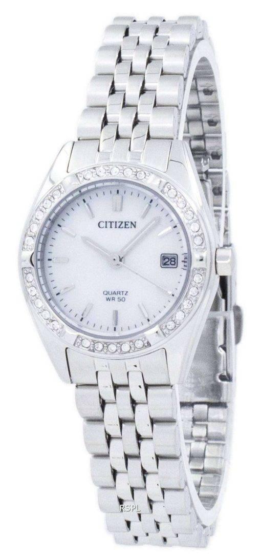 Citizen Quartz Diamond Accent EU6060-55D Women's Watch