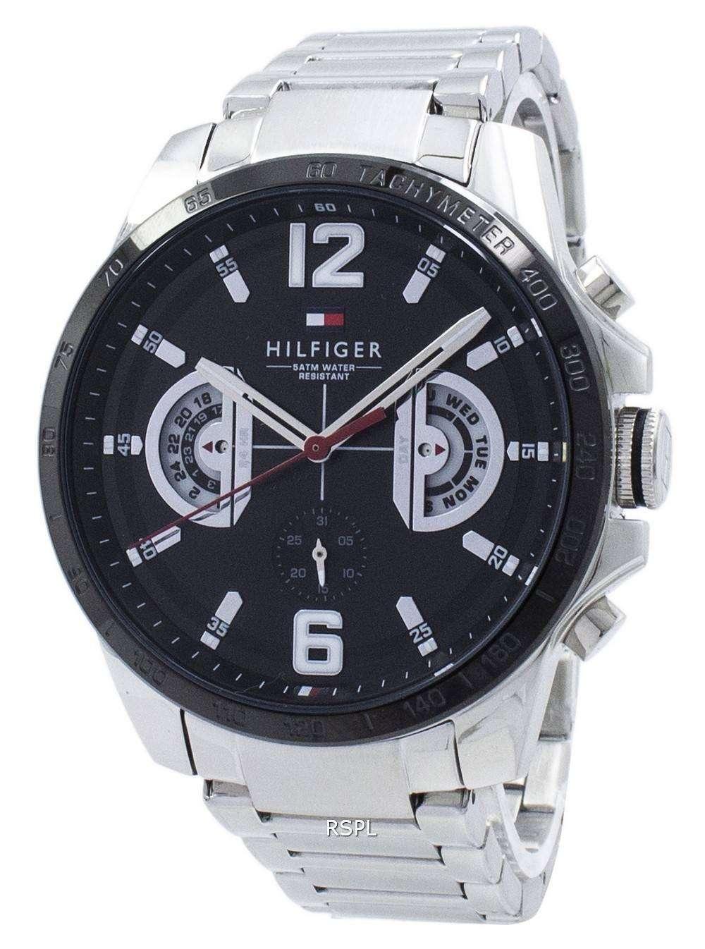 39cb4092a50 Tommy Hilfiger Decker Analog Quartz Tachymeter 1791472 Men s Watch