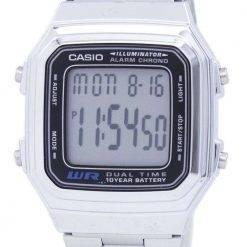 Casio Digital Stainless Steel Alarm Chrono Dual Time A178WA-1ADF A178WA-1A Mens Watch