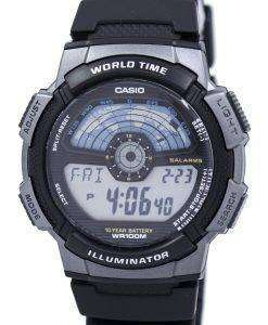 Casio Youth Digital Illuminator World Time AE-1100W-1AV Mens Watch