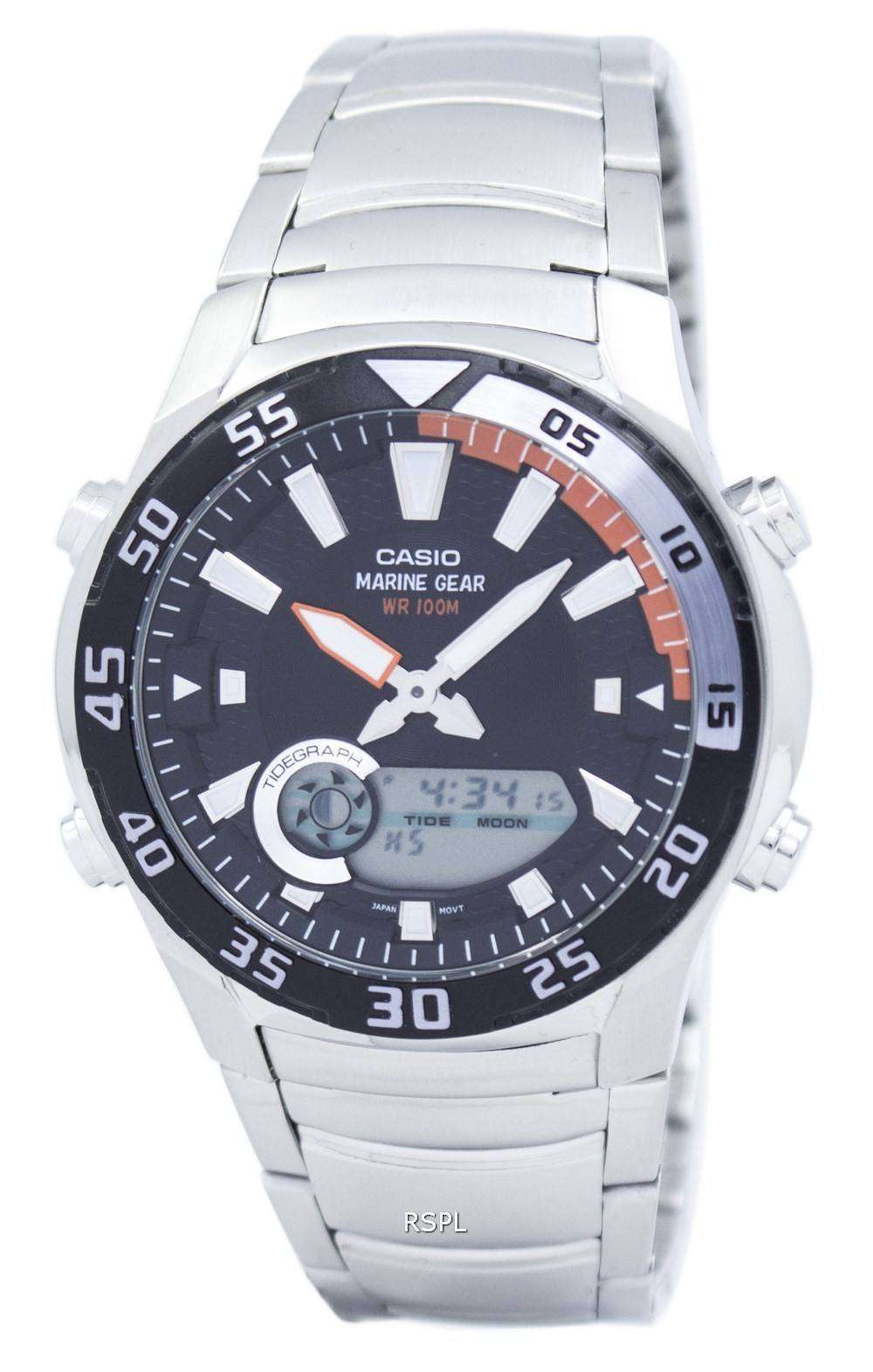Casio analog digital marine gear amw 710d 1avdf amw 710d 1av mens watch for Marine watches