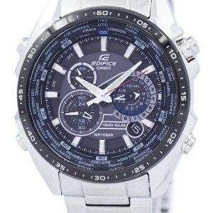 Casio Edifice Tough Solar Chronograph World Time EQS-500DB-1A1 EQS500DB-1A1 Men's Watch