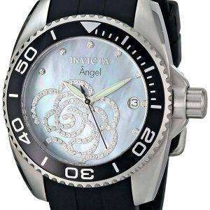 Invicta Angel Cubic Zirconia Flower Quartz 0487 Women's Watch