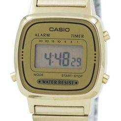 Casio Digital Stainless Steel Alarm Timer LA670WGA-9DF Womens Watch