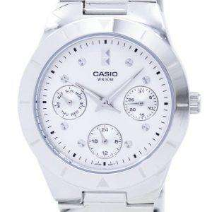 Casio Enticer Analog Quartz Silver Dial LTP-2083D-7AVDF LTP-2083D-7AV Womens Watch