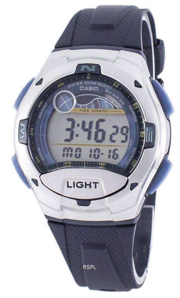 Casio Sports Illuminator Tide Graph Moon Phase Digital W-753-2AV W753-2AV Men's Watch