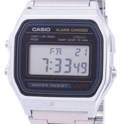 Casio Digital Stainless Steel Daily Alarm A158WA-1DF A158WA-1 Mens Watch