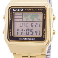 Casio Digital Stainless Steel World Time A500WGA-1DF A500WGA-1 Mens Watch