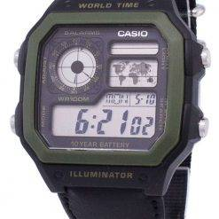 Casio Youth Series Digital World Time AE-1200WHB-1BVDF AE-1200WHB-1BV Mens Watch