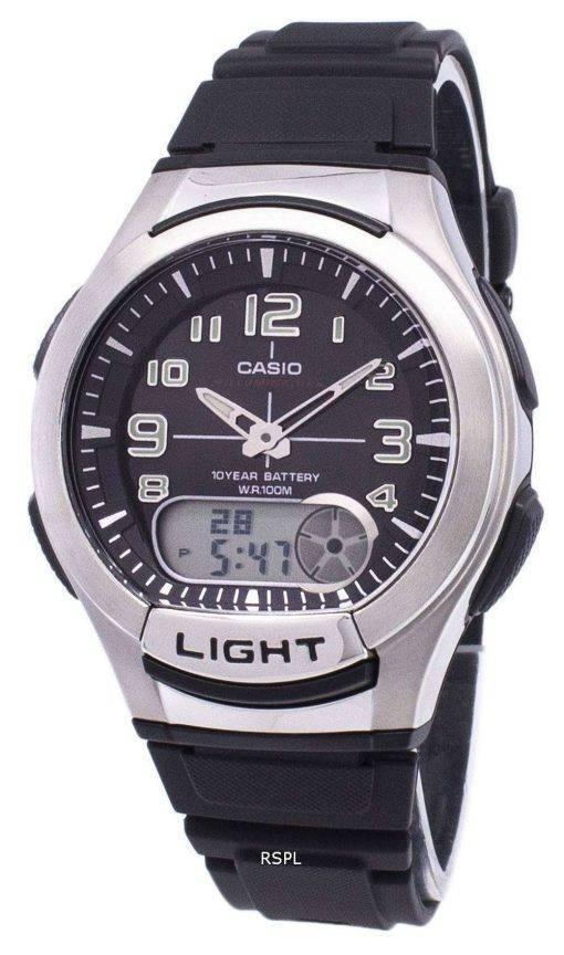 Casio Analog Digital Illuminator Telememo AQ-180W-1BVDF AQ-180W-1BV Mens Watch