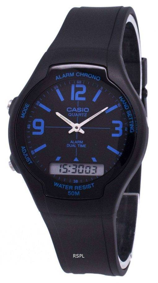 Casio Analog Digital Dual Time AW-90H-2BVDF AW-90H-2BV Mens Watch
